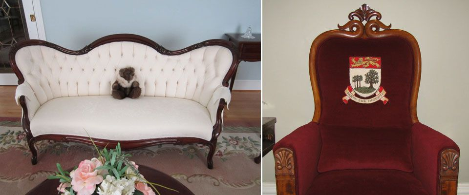 upholstered antique furniture