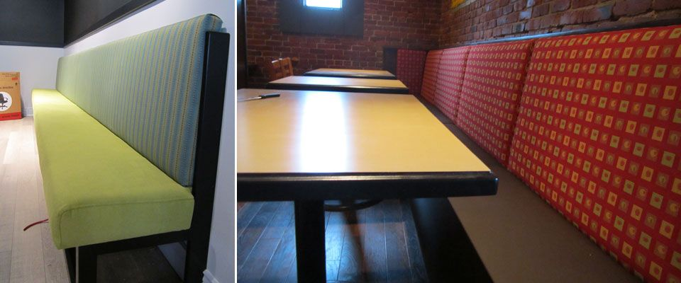 upholstered restaurant booths