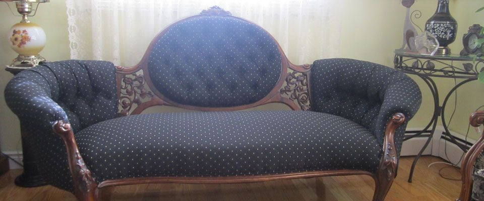 upholstered antique sofa